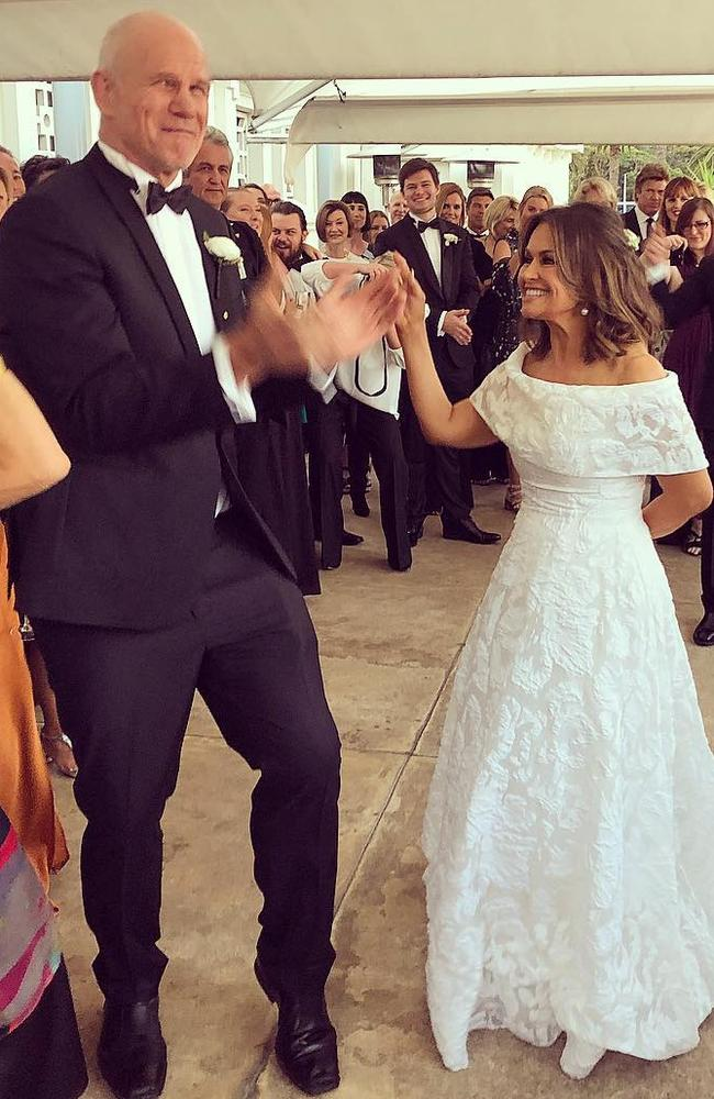 Lisa Wilkinson and Peter Fitzsimons renew their wedding vows in October.