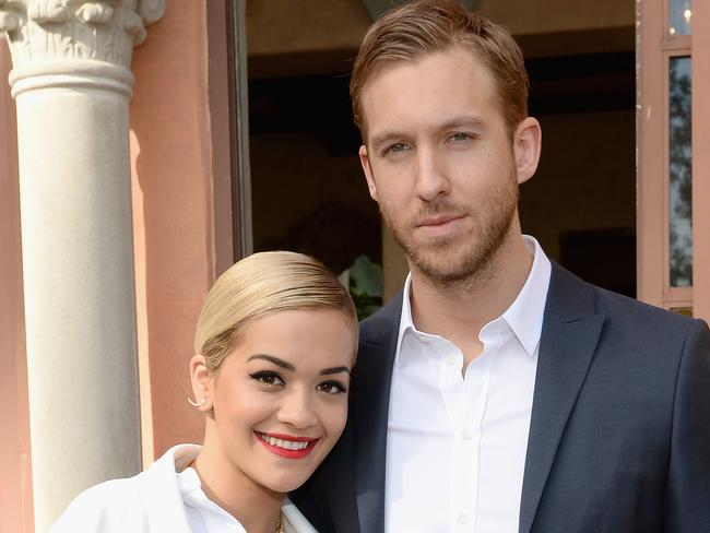 Splitsville... Calvin Harris and Rita Ora are no longer together. Picture: Larry Busacca