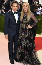 "Ben Stiller (L) and Christine Taylor attend the ""Manus x Machina: Fashion In An Age Of Technology"" Costume Institute Gala at Metropolitan Museum of Art on May 2, 2016 in New York City. Picture: Larry Busacca/Getty Images/AFP"