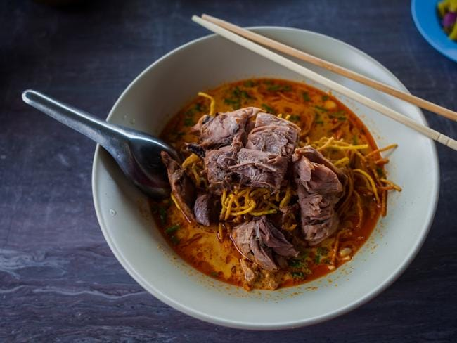 Pork khao soi in Phuket.