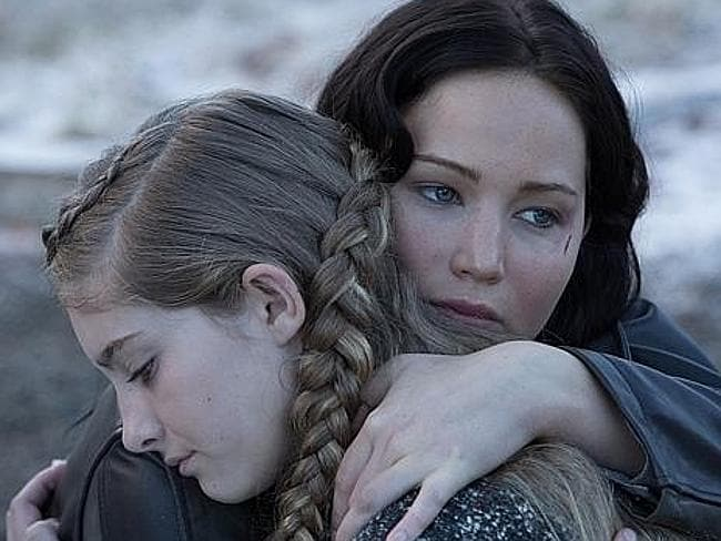 Blockbuster....Jennifer Lawrence as Katniss Everdeen in The Hunger Games: Catching Fire.