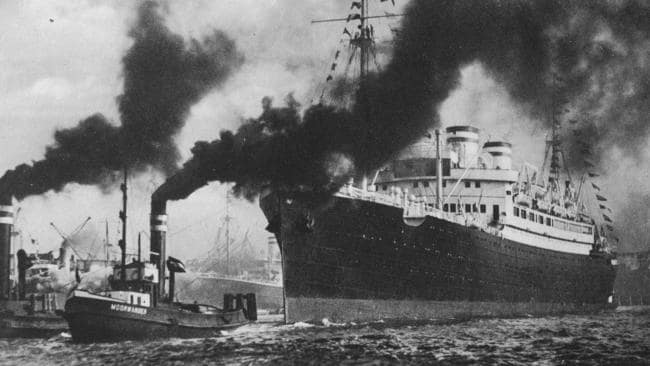 The MS St Louis leaves Hamburg in 1939. Picture: United States Holocaust Memorial Museum, courtesy of Gerri Felder/Max Reid
