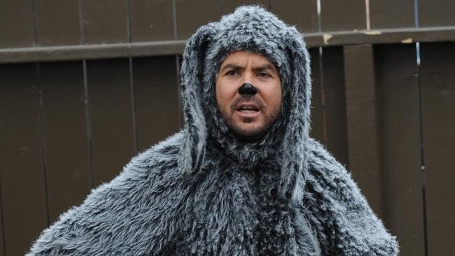 Dog act ... Jason Gann, who stars in hit American TV series Wilfred. Picture: Supplied