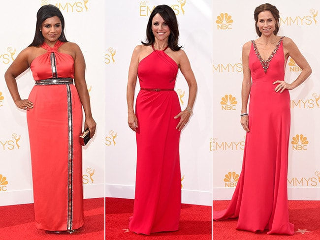 Mindy Kaling, Julia Louis-Dreyfus and Minnie Driver. Picture: Getty