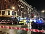 Atmosphere at the ceiling collapse of the Apollo Theatre, in London's Shaftesbury Avenue. Picture: ZeitLife/Twitter