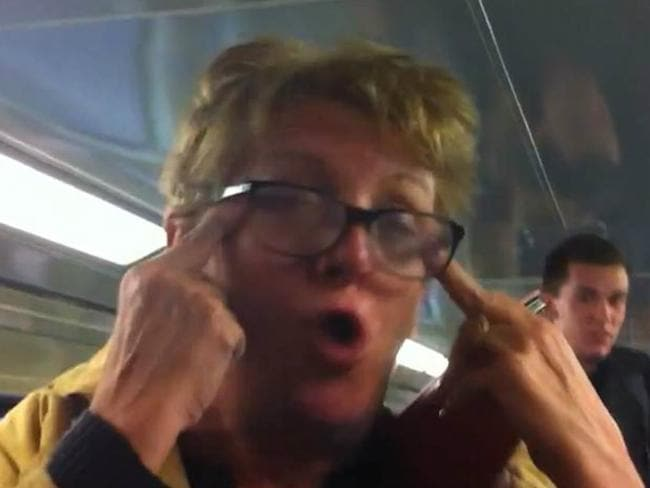 A still from the racist rant video of Karen Bailey.