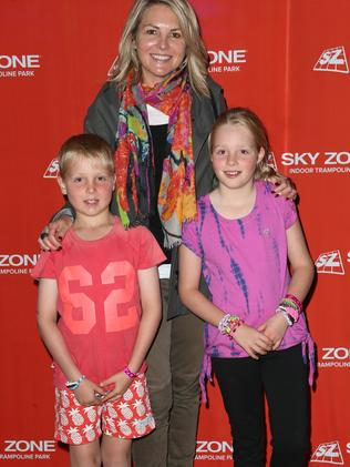 Georgie Gardner with her children Angus and Bronte who she will focus on after her resignation.