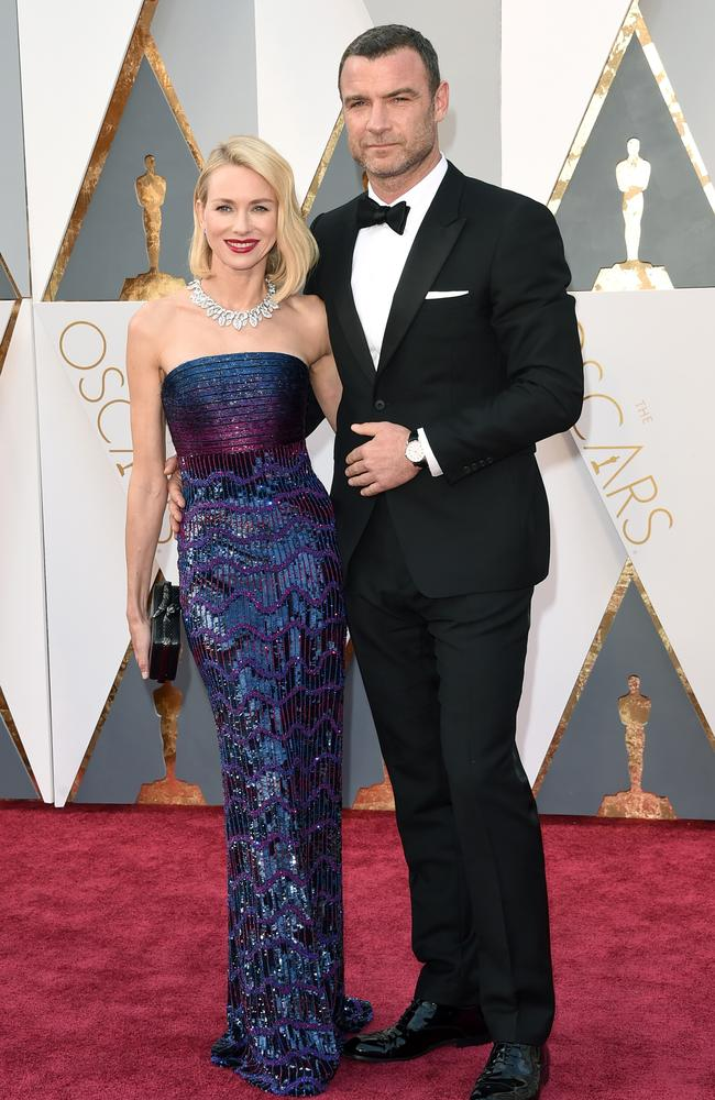 Naomi Watts and Liev Schreiber attend the 88th Annual Academy Awards on February 28, 2016 in Hollywood, California. Picture: Getty