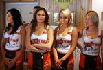<p>2006 Launch of American restaurant chain Hooters at Parramatta, the first of its kind to be opened in Australia. The Australian Hooters girls L-R Michelle, Makere, Felicia and Christina. Picture: Toby Zerna</p>