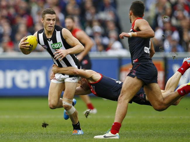 Paul Seedsman had the most running bounces for the game. Picture: Michael Klein