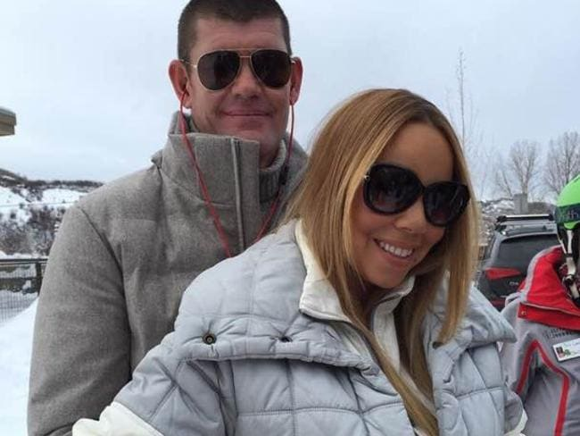 Loved up ... Mariah Carey says that she and the Aussie mogul will be based in the US. Picture: Instagram