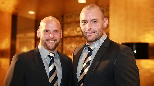 Paul Chapman and Josh Hunt at Geelong's Best and Fairest. Picture: Ristevski Peter
