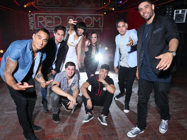 Justice Crew, Dami Im and Bonnie Anderson at Nova's Red Room Global Tour at Marquee at The Star in Pyrmont / Picture: Richard Dobson