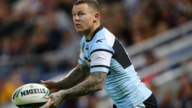 Todd Carney starred in his final game for the Sharks before being sacked. Pic Darren England.
