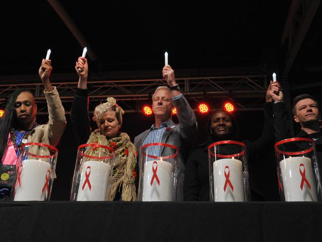 A candlelight vigil to remember delegates who lost their lives onboard Malaysia Airlines flight MH17 en route to the AIDS Conference 2014 in Melbourne.