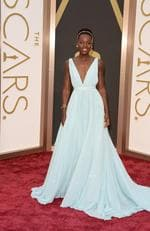 Lupita Nyong'o was simply angelic in her blue Prada Oscar gown in 2014. Picture: Jason Merritt/Getty Images