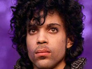 Singer Prince in scene from Purple Rain