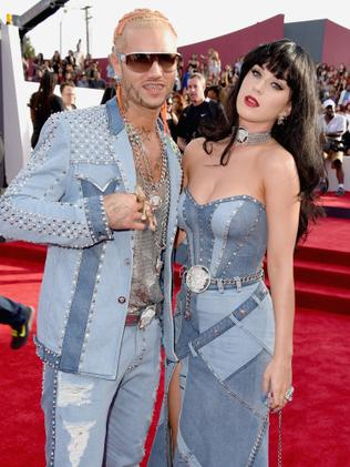 Riff Raff and Katy Perry attend the 2014 MTV Video Music Awards.