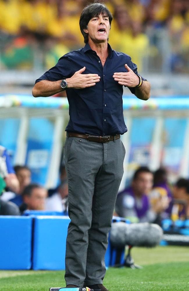 Look at me! Germany's well dressed head coach Joachim Loew of Germany.