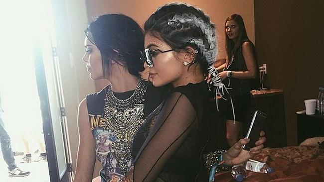 Kendall and Kylie Jenner at Coachella 2015. Picture: Instagram