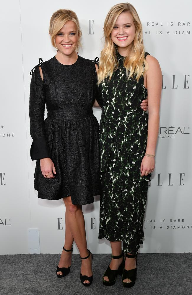 Reese Witherspoon with her daughter Ava Phillipe at Elle's 24th Annual Women in Hollywood Celebration. Picture: Neilson Barnard/Getty Images for Elle