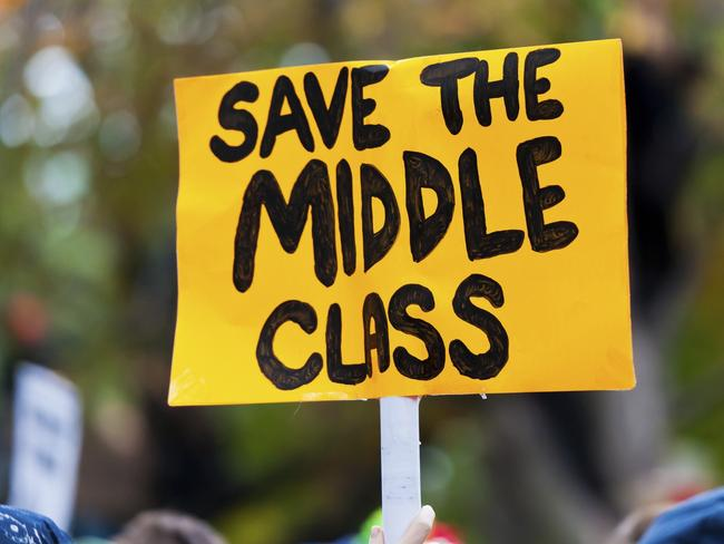 Social researcher Mark McCrindle says the land of the middle class is now under threat. Picture: istock