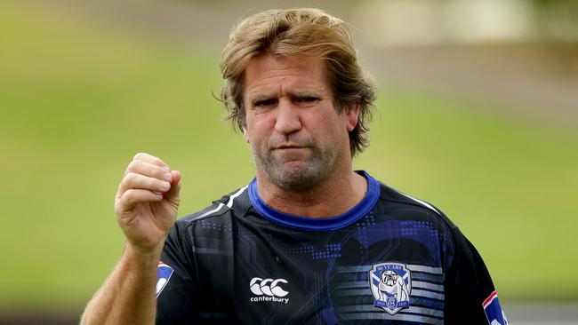 Des Hasler during Canterbury Bankstown Bulldogs training at Belmore Oval. Picture Gregg Porteous