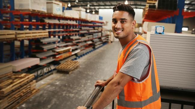 Tristan Vargas works in warehousing, labouring and manufacturing and moves depending where the work is. Picture: Daniel Aarons