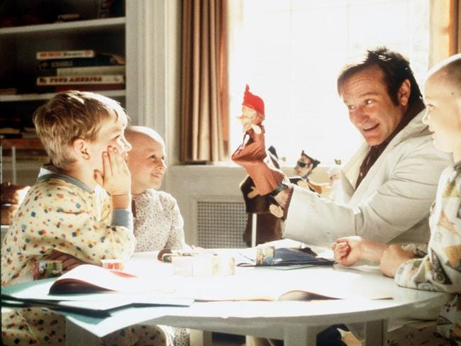 Brought smiles and laughter ... Robin Williams (seen here playing Patch Adams) was 'deeply generous' to St Jude Children's Research Hospital and the Make-A-Wish Foundation.