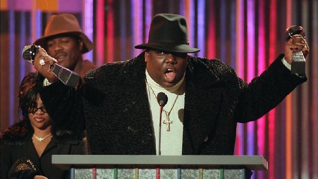 Notorious B.I.G. was one of the labels major stars. Pictured here at the Billboard Music Awards in 1995 before his death.