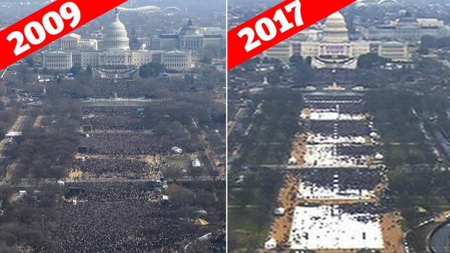 Donald Trump: Media lied about inauguration crowd size ...