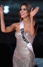 Miss Colombia 2015, Ariadna Gutierrez, is named a top three finalist during the 2015 Miss Universe Pageant on December 20, 2015 in Las Vegas. Picture: Getty