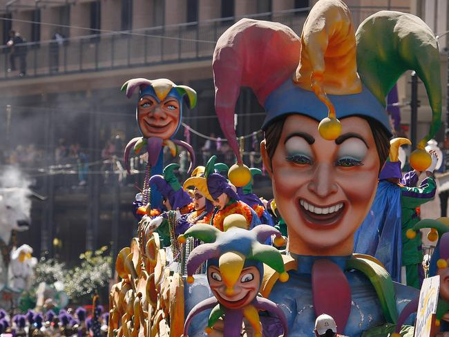 The Krewe of Rex parade through New Orleans during mardi gras. Picture: Chris Graythen/Getty Images/AFP