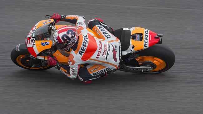 Marc Marquez of Repsol Honda Team rounds the bend.