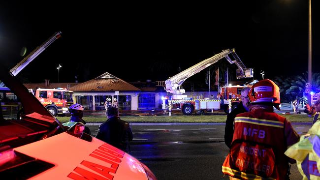 The scene was reminiscent of the blaze that razed the Stokehouse in January. Picture: Andy Brownbill