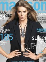 Australian plus-size model Robyn Lawley is pictured as she appears on the cover of Madison Magazine. Picture: Supplied