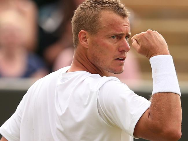 Australia's Lleyton Hewitt won his 30th ATP title with a 6-3 6-7 (4-7) 7-6 (7-3) win at Newport, Rhode Island. Picture: AFP