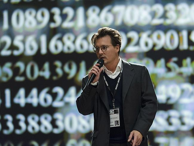 Underwhelming role ... for Johnny Depp as Will Caster in the sci-fi thriller Transcendence. Picture: Peter Mountain