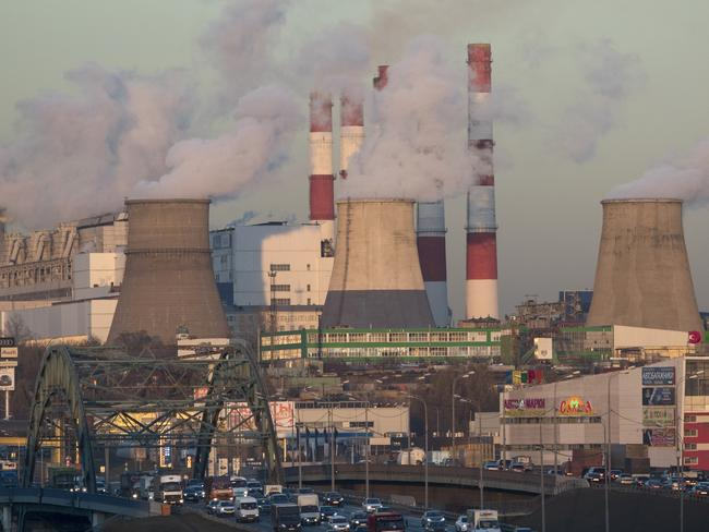 Smoke billows from a power plant in Moscow. Russia is among the worst countries for emmissions. Picture: AP