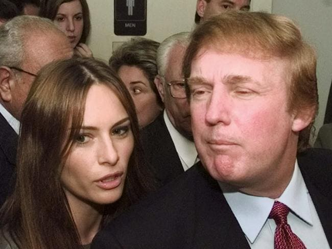 Melania and Donald in 1999. Picture: AFP