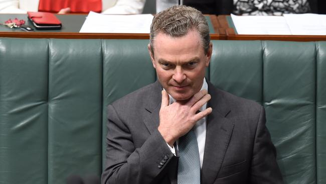 Christopher Pyne will be the one to let us know if an early election is being held. Picture: AAP/Lukas Coch