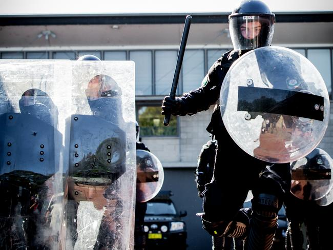 Riot police aren't something you want to come up against.