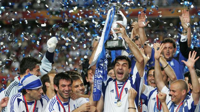 Greece achieved the impossible when it beat Portugal at Euro 2004. Picture: Getty Images