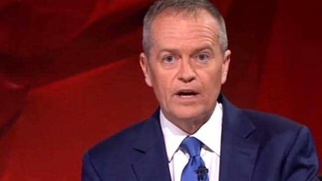 Bill Shorten on Q&A. Pic: ABC