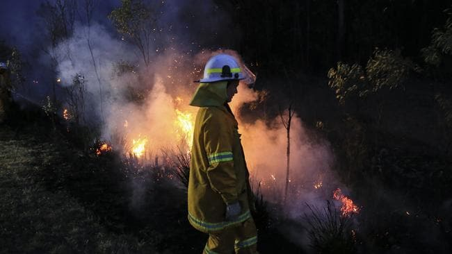 The blaze near Richmond Vale remains out-of-control. . Picture: Dylan Robinson