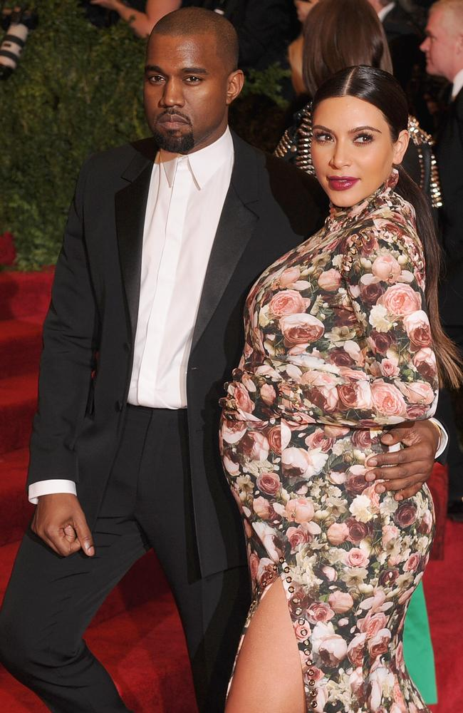 Kim Kardashian and Kanye West at the PUNK: Chaos to Couture-themed Met Gala in 2013. Picture: Getty Images