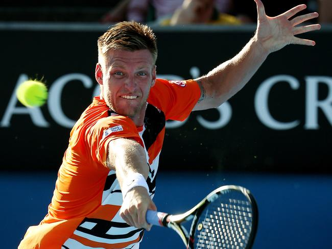 Sam Groth qualified for his first grand slam by beating Italy's Simone Bolleli.