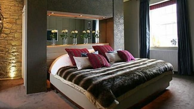 Shirehorse Castle, Halifax. A bed chamber fit for a modern day king or queen. Picture: HomeAway.com.au