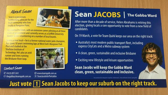 Brisbane City Council Lnp Candidate For The Gabba Sean Jacobs