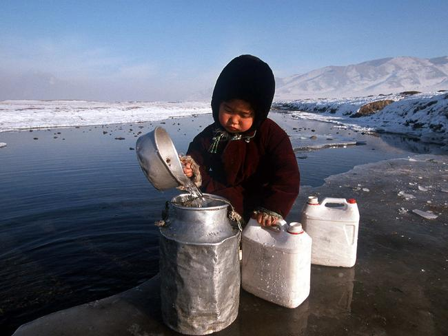 Freezing winter temperatures means many Mongolians resort to open fire heating.